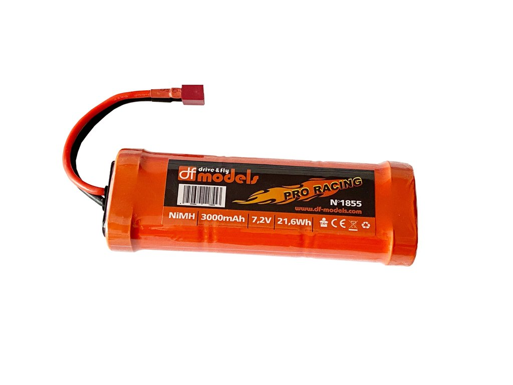 pro racing pack 7 2 volt 3000 mah nimh t plug df models