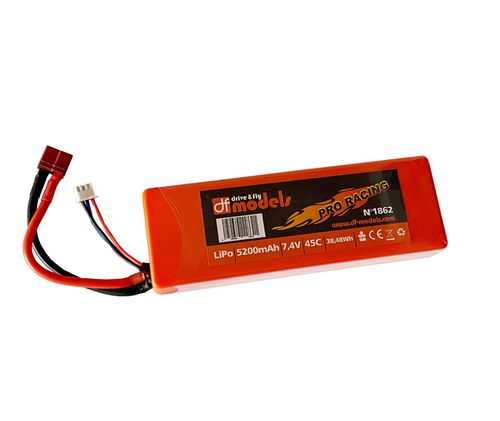 LiPo battery 2S - 7,4 Volt, 5200mAh, 45C