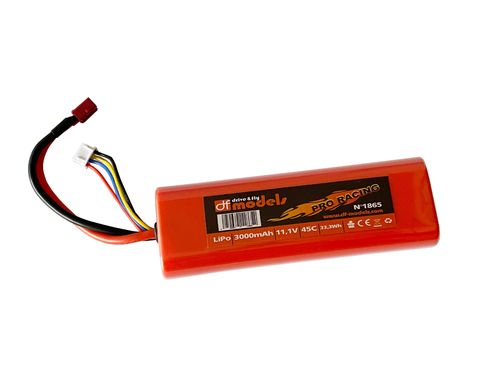 LiPo battery 3S - 11,1 Volt, 3000mAh, 45C